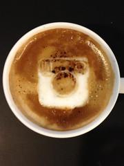 Today's latte, Instagram.