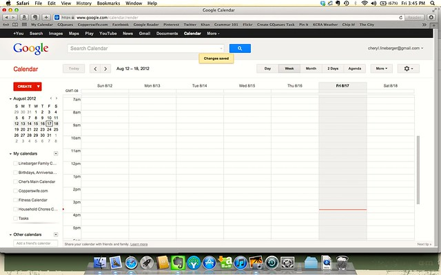 Google Calendar Screen Shot #2