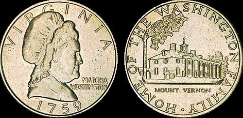 Martha Washington test coin