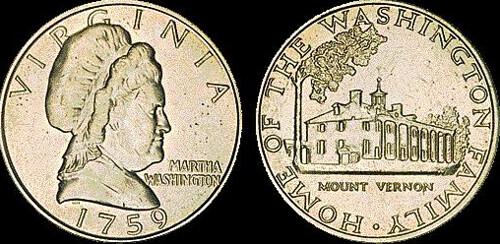Martha Washington test coin