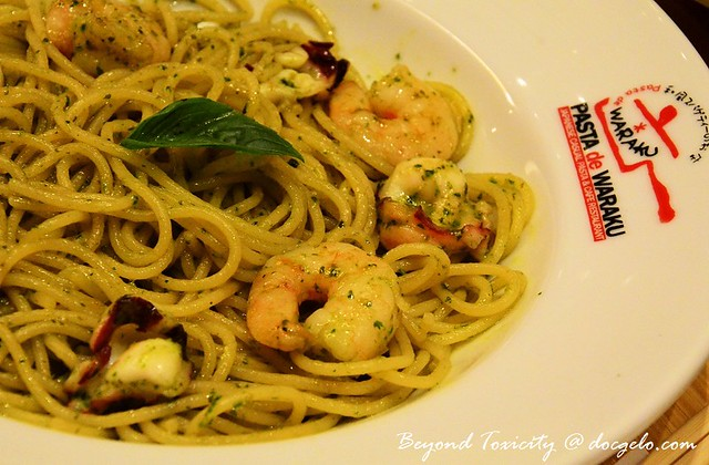 pesto prawn and octopus