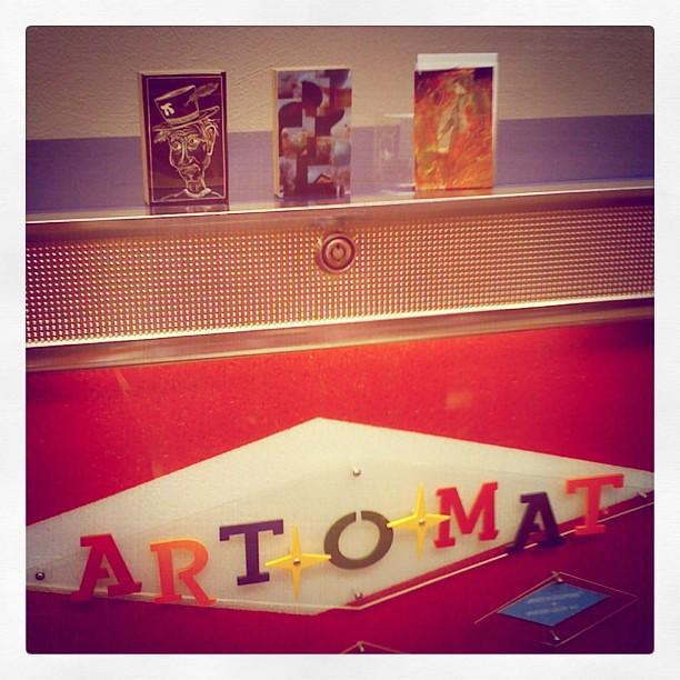 Serious #artomat loot! L-R John Gall, Circe Dunnell, and Pascale Hulin