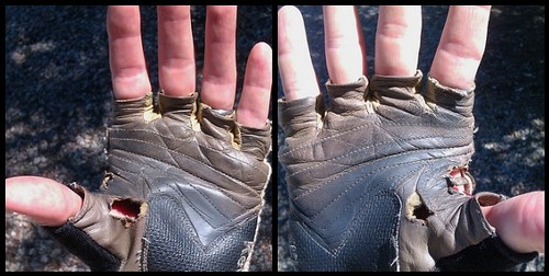 Yet another set of gloves done in. by cyclotourist