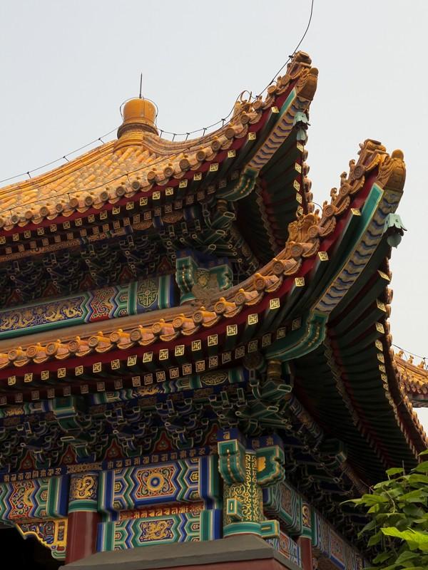 Toits colorés du Temple des Lamas