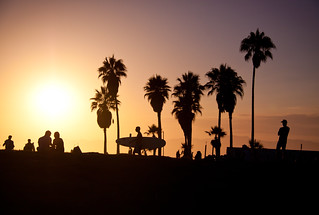 Venice Beach at Sunset - Los Angeles, CA