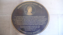 Photo of Mary Wakefield green plaque