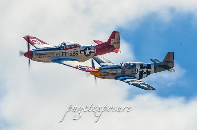 "P-51 Mustang ""Val-Halla"" N151AF & P-51 ""Impatient Virgin"" N5087F"