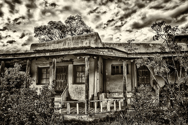 Old Adobe House HDR - BW | Flickr - Photo Sharing!