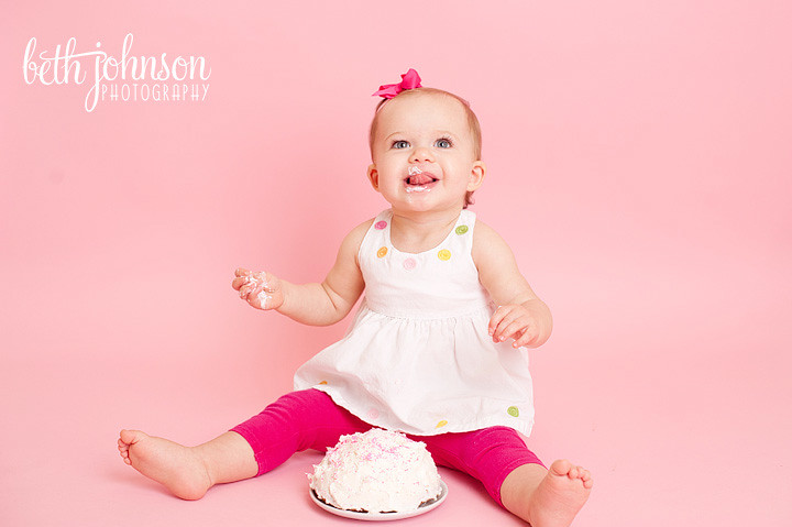 tallahassee studio cake smash photography