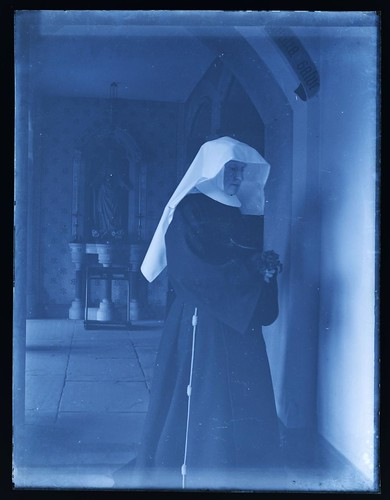 Nun inside Poor Clares Priory, Woodchester, early 1900s
