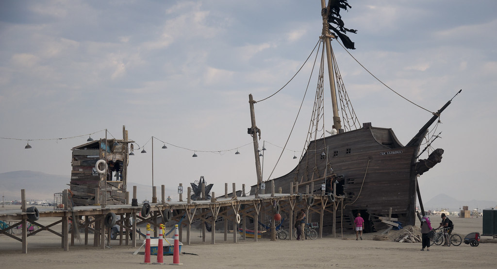 Shipwreck on the playa - Burning Man 2012