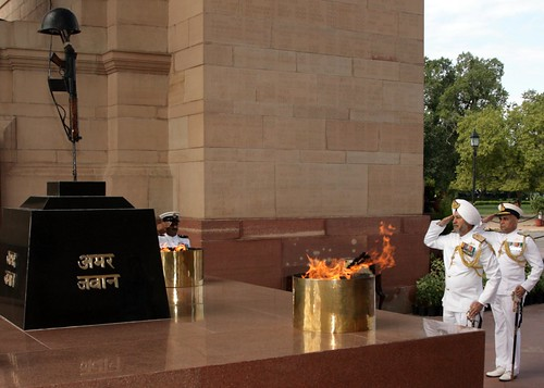 WREATH LAYING AT AMAR JAWAN JYOTI by Chindits