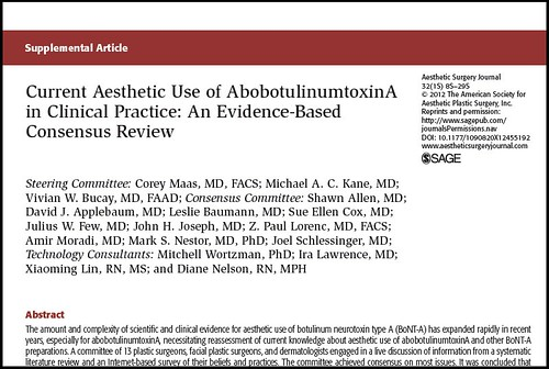 Joel Schlessinger MD published as part of a consensus study on AbobotulinumtoxinA