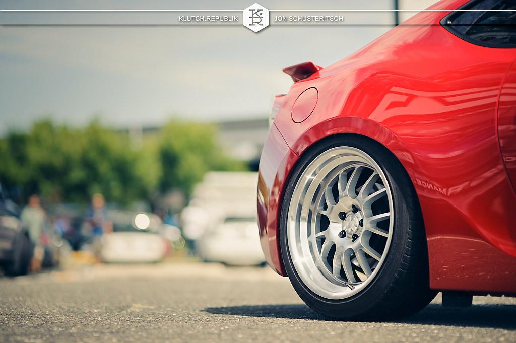 klutch wheels sl14 on red subaru brz wheels scion frs 18x8.5 18x9.5
