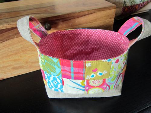 Pink Penguin basket pattern