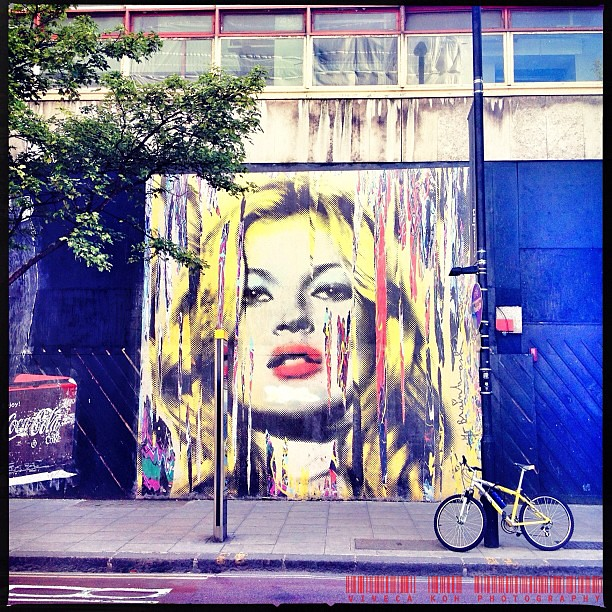 Kate by Mr Brainwash #iphone #iphoneography #london #streetart #mrbrainwash