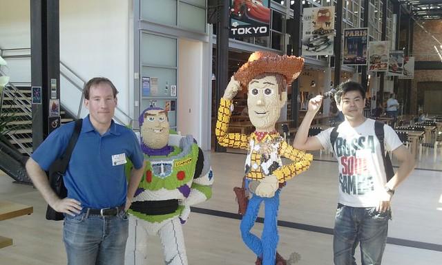 Dan & Drake in Pixar Lobby