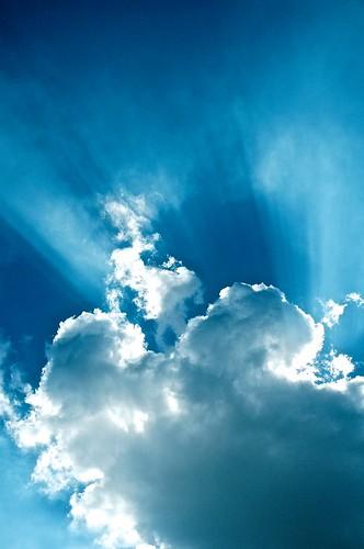 無料写真素材, 自然風景, 空, 雲, 薄明光線