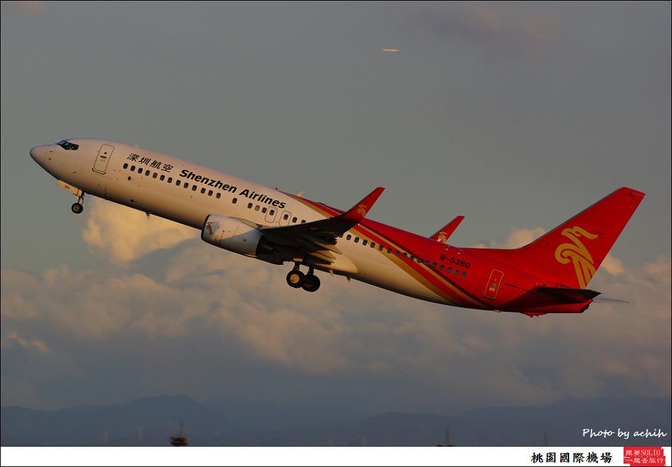 Shenzhen Airlines / B-5380 / Taiwan Taoyuan International Airport