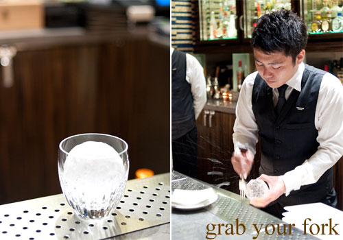 ice sphere by akihiro eguchi waku ghin chief bartender at marina bay sands singapore