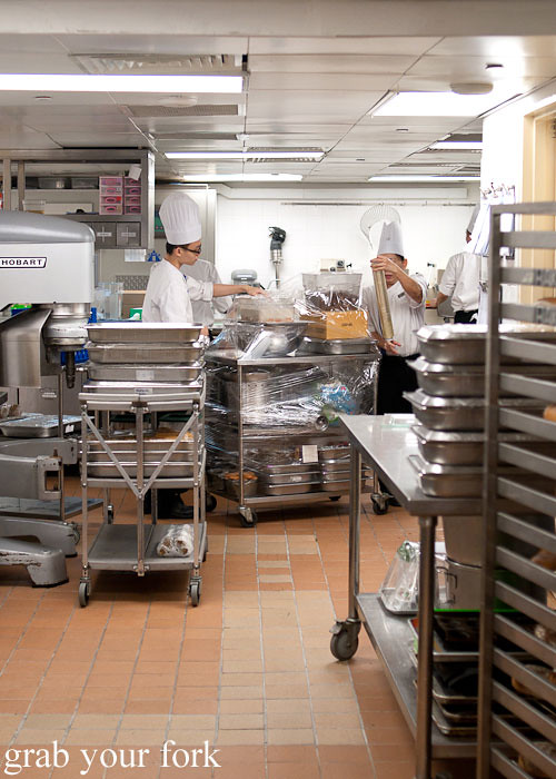 inside the kitchen at marina bay sands singapore