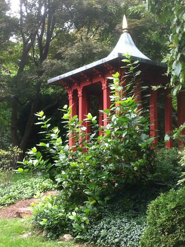 Red Pergola (Long Hill Gardens) by randubnick