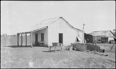 Sheet iron building at homestead, Flora Valley, Western Australia, 19 April 1929.