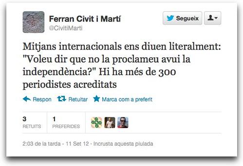 Catalan Tweet