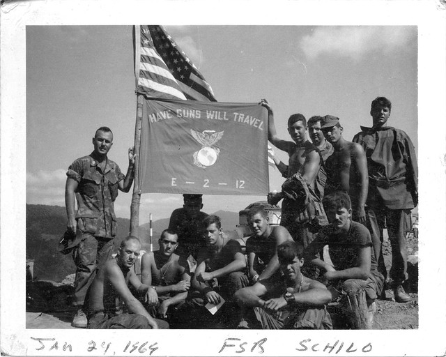 Barney Barnum and Marines at FSB Schilo, Vietnam, 1969 ...