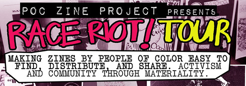 POC Zine Project's Race Riot! Tour logo by Cristy C. Road