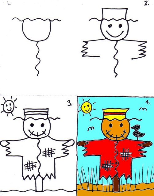 How to Draw a Scarecrow - Lesson 12 | Art for Kids