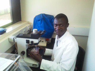 Collins Owino, ILRI research technician