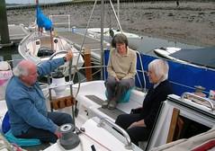 Relaxing aboard Sandack