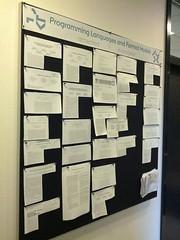The PL bulletin board at Aarhus