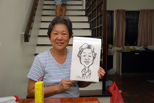 caricature live sketching for birthday party 10022012 -1