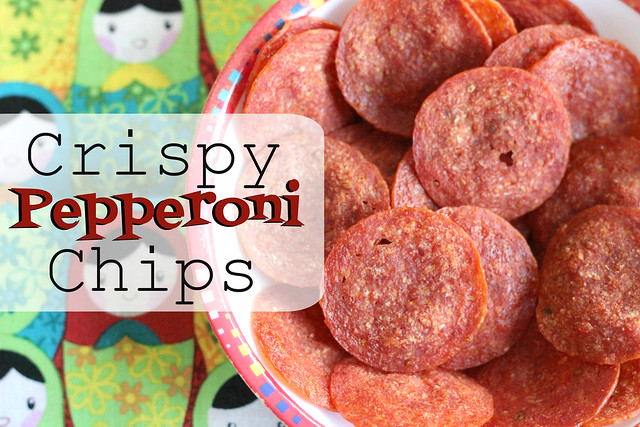 crispy pepperoni chips