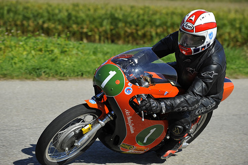 AMF Harley Davidson R-R250 classic racer motorcycle Schwanenstadt GP Austria Copyright 2012 B. Egger :: eu-moto images 1291