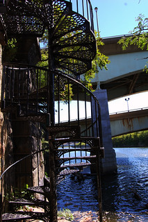 Metal Stairs above the Schuylkill