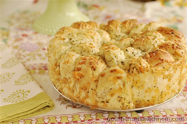 Cheesy Garlic Bread made with frozen bread dough