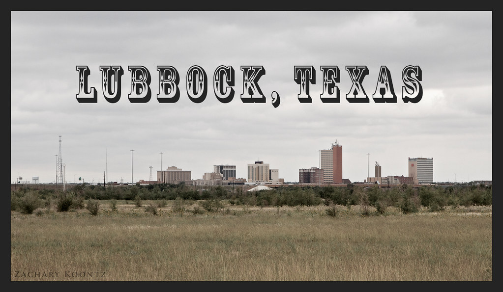 Elevation Of Lubbock County Tx Usa Topographic Map