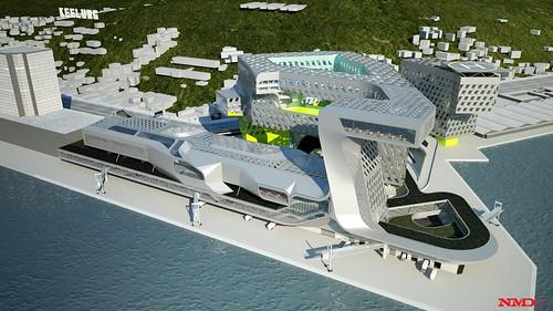 基隆新海港大樓國際競圖第一名由Neil M Denari Architects及宗邁建築師事務所獲得