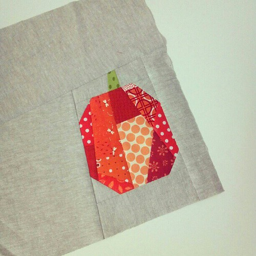 scrappy patchwork pumpkin. <3