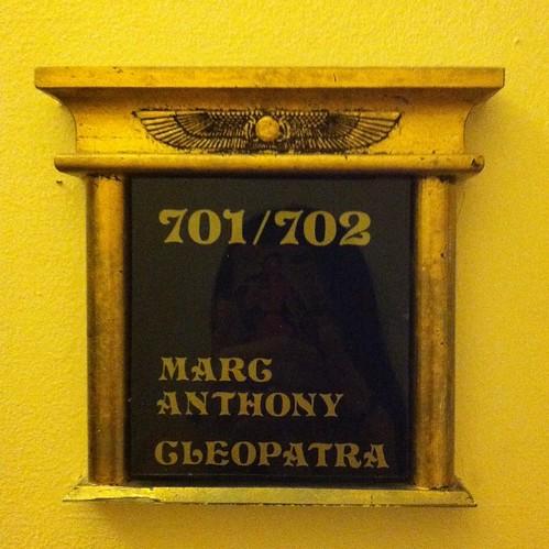 Cleopatra suite, room 702