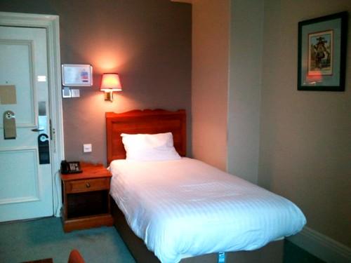 Single room at Leeds Met hotel