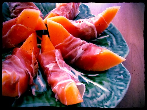 Proscuitto Wrapped Melon (Indiglow)
