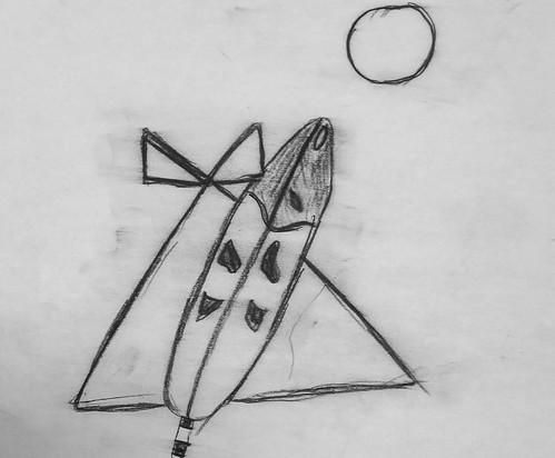 Charcoal Drawing by/Dessin au fusain par Krisane Moses