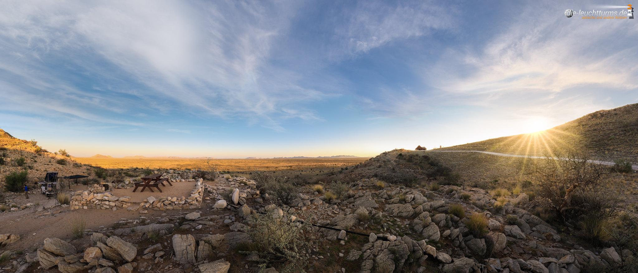 Sunrise at the edge of Namib desert