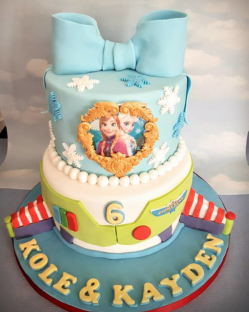 Frozen Themed Cake by Cheryl Fitzsimmons