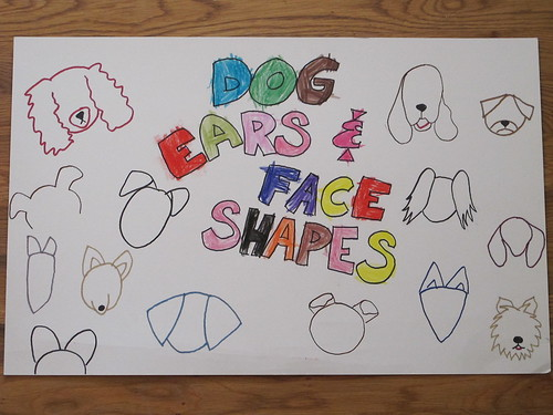 Drawing Posters for Dog Art Class