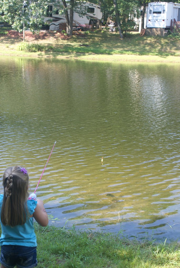 Vivianne fishing